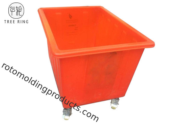 100 Gallon Mobile Plastic Laundry Bin On Wheels K400 Roto Molded With 400kg Capacity
