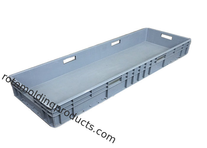 Industrial Euro Containers Food Tray With Lids 1200*400*120 Mm Grey Stacking For Storage